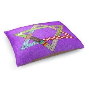 Decorative Dog Pet Beds   Marley Ungaro - Star of David Purple   Star of David Holidays Channuka