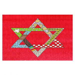 Decorative Floor Coverings | Marley Ungaro - Star of David Red | Star of David Holidays Channuka