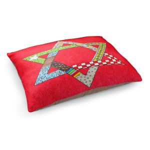 Decorative Dog Pet Beds | Marley Ungaro - Star of David Red | Star of David Holidays Channuka