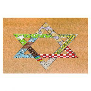 Decorative Floor Coverings   Marley Ungaro - Star of David Tan   Star of David Holidays Channuka