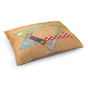 Decorative Dog Pet Beds | Marley Ungaro - Star of David Tan | Star of David Holidays Channuka
