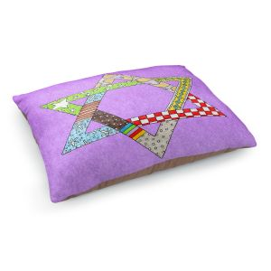 Decorative Dog Pet Beds | Marley Ungaro - Star of David Violet | Star of David Holidays Channuka