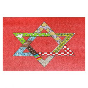 Decorative Floor Coverings   Marley Ungaro - Star of David Watermelon   Star of David Holidays Channuka