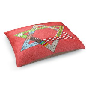 Decorative Dog Pet Beds | Marley Ungaro - Star of David Watermelon | Star of David Holidays Channuka