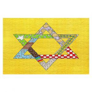 Decorative Floor Coverings | Marley Ungaro - Star of David Yellow | Star of David Holidays Channuka