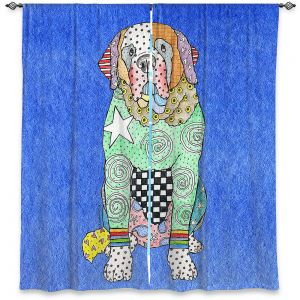 Decorative Window Treatments | Marley Ungaro - Saint Bernard Blue