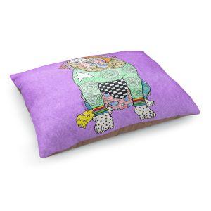 Decorative Dog Pet Beds | Marley Ungaro - Saint Bernard Violet