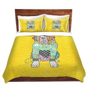Artistic Duvet Covers and Shams Bedding | Marley Ungaro - Saint Bernard Yellow