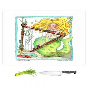Artistic Kitchen Bar Cutting Boards | Marley Ungaro - Strumming Mermaid