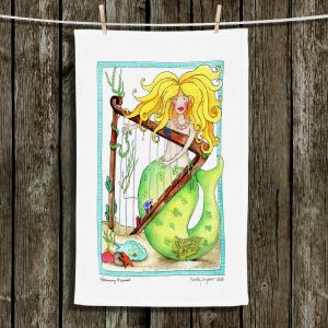 Unique Bathroom Towels | Marley Ungaro - Strumming Mermaid