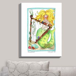 Decorative Canvas Wall Art | Marley Ungaro - Strumming Mermaid