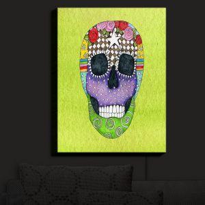 Nightlight Sconce Canvas Light | Marley Ungaro - Sugar Skull Lime
