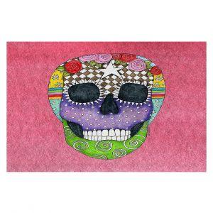 Decorative Floor Coverings | Marley Ungaro - Sugar Skull Pink | Sugar Skull Stylized Childlike Funky