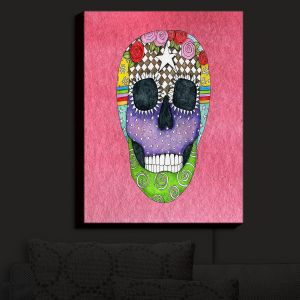 Nightlight Sconce Canvas Light | Marley Ungaro - Sugar Skull Pink