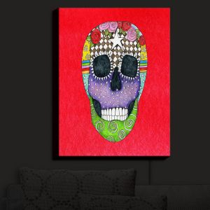 Nightlight Sconce Canvas Light | Marley Ungaro - Sugar Skull Red