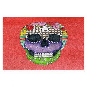 Decorative Floor Coverings | Marley Ungaro - Sugar Skull Watermelon | Sugar Skull Stylized Childlike Funky