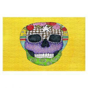 Decorative Floor Coverings | Marley Ungaro - Sugar Skull Yellow | Sugar Skull Stylized Childlike Funky