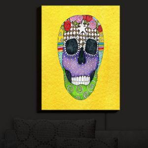 Nightlight Sconce Canvas Light | Marley Ungaro - Sugar Skull Yellow
