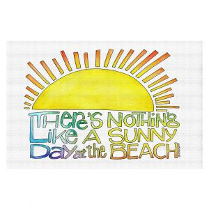 Decorative Floor Covering Mats | Marley Ungaro - Sunny Day At Beach | Text typography words