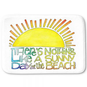 Decorative Bathroom Mats | Marley Ungaro - Sunny Day At Beach | Text typography words