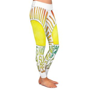 Casual Comfortable Leggings | Marley Ungaro - Sunny Day At Beach | Text typography words
