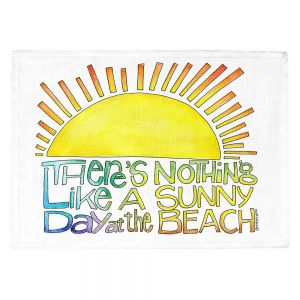 Countertop Place Mats | Marley Ungaro - Sunny Day At Beach | Text typography words