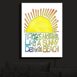 Nightlight Sconce Canvas Light | Marley Ungaro - Sunny Day At Beach