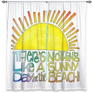 Decorative Window Treatments | Marley Ungaro - Sunny Day At Beach | Text typography words