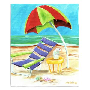 Decorative Fleece Throw Blankets | Marley Ungaro - Taking a Dip | beach Sun Ocean