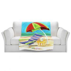 Artistic Sherpa Pile Blankets   Marley Ungaro - Taking a Dip   beach Sun Ocean
