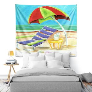 Artistic Wall Tapestry | Marley Ungaro - Taking a Dip | beach Sun Ocean