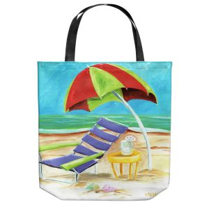 Unique Shoulder Bag Tote Bags | Marley Ungaro - Taking a Dip | beach Sun Ocean