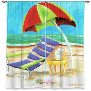 Decorative Window Treatments | Marley Ungaro - Taking a Dip | beach Sun Ocean