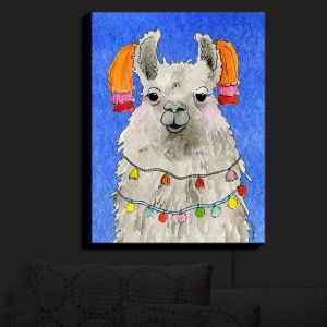 Nightlight Sconce Canvas Light | Marley Ungaro - Tassels Llama Blue