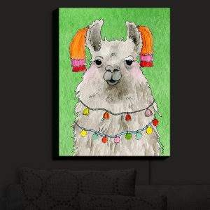 Nightlight Sconce Canvas Light | Marley Ungaro - Tassels Llama Green