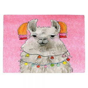 Countertop Place Mats | Marley Ungaro - Tassels Llama Lt Pink | watercolor animal
