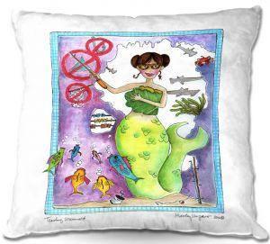 Decorative Outdoor Patio Pillow Cushion | Marley Ungaro - Teaching Mermaid