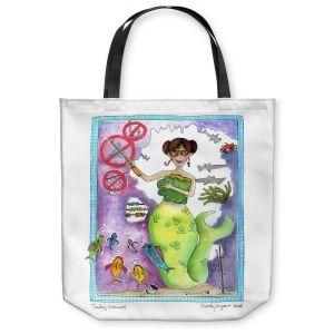 Unique Shoulder Bag Tote Bags | Marley Ungaro Teaching Mermaid
