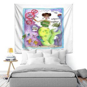 Artistic Wall Tapestry | Marley Ungaro Teaching Mermaid
