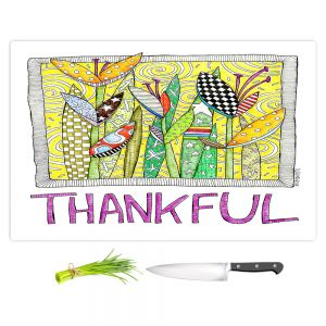 Artistic Kitchen Bar Cutting Boards | Marley Ungaro - Thanksful Flowers | Floral Inspiration