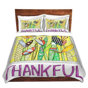 Artistic Duvet Covers and Shams Bedding | Marley Ungaro - Thanksful Flowers | Floral Inspiration