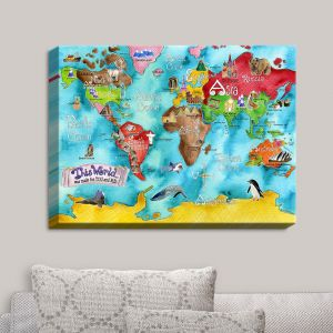 Decorative Canvas Wall Art | Marley Ungaro - This World Turquoise MAP