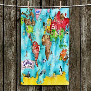 Unique Bathroom Towels   Marley Ungaro - This World Turquoise MAP