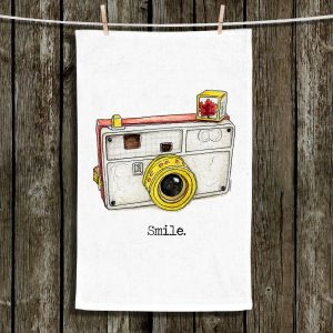 Unique Hanging Tea Towels | Marley Ungaro - Toys Camera Smile | Childlike Toys Retro Fun Camera