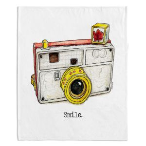 Artistic Sherpa Pile Blankets | Marley Ungaro - Toys Camera Smile | Childlike Toys Retro Fun Camera