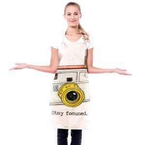 Artistic Bakers Aprons | Marley Ungaro - Toys Camera Stay Focused | Childlike Toys Retro Fun Camera