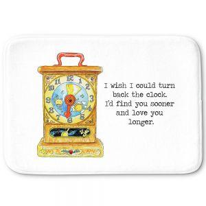 Decorative Bathroom Mats | Marley Ungaro - Toys Clock | Childlike Toys Retro Fun Clock
