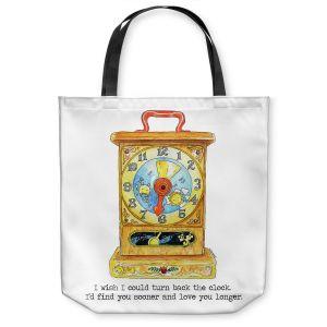 Unique Shoulder Bag Tote Bags   Marley Ungaro - Toys Clock   Childlike Toys Retro Fun Clock