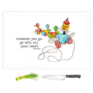 Artistic Kitchen Bar Cutting Boards | Marley Ungaro - Toys Ducks All Your Heart | Childlike Toys Retro Fun Ducks