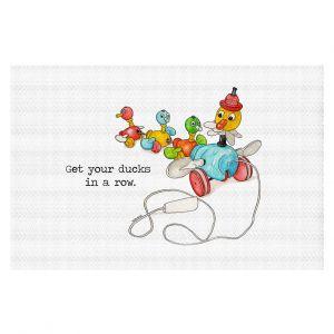 Decorative Floor Coverings | Marley Ungaro - Toys Ducks In A Row | Childlike Toys Retro Fun Ducks